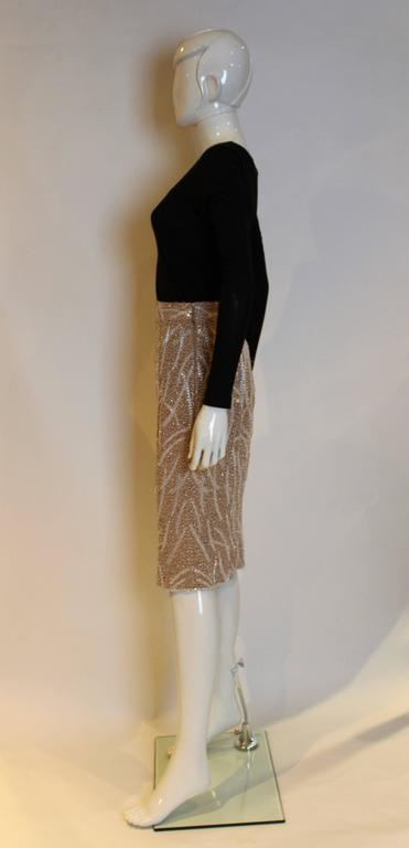 1980s silk,beaded and sequinskirt In Excellent Condition For Sale In London, GB