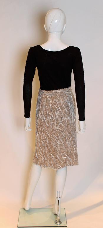 1980s silk,beaded and sequinskirt 5