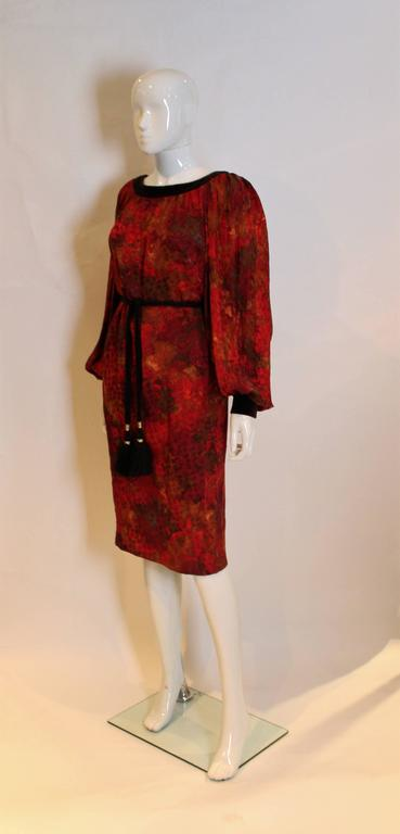 72c08505805 Red Yves Saint Laurent Patron Original Numbered Dress For Sale