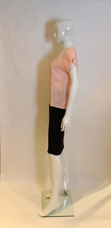 Yves Saint Laurent Rive Gauche  Linen Top In Excellent Condition For Sale In London, GB