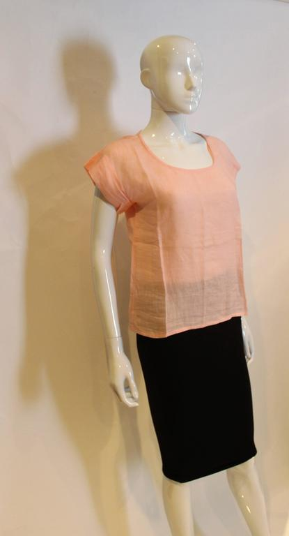 Yves Saint Laurent Rive Gauche  Linen Top For Sale 1
