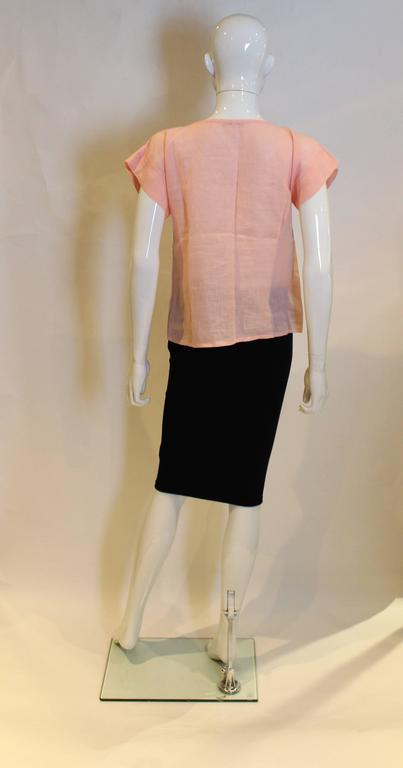 Women's Yves Saint Laurent Rive Gauche  Linen Top For Sale