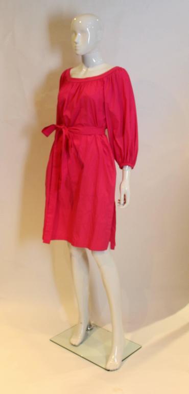 Yves Saint Laurent Rive Gauche Pink Dress 5