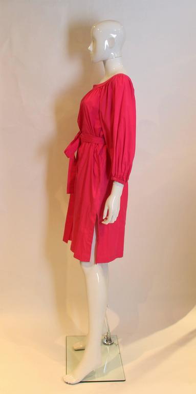 Yves Saint Laurent Rive Gauche Pink Dress 3