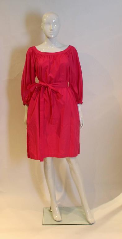 Yves Saint Laurent Rive Gauche Pink Dress 4