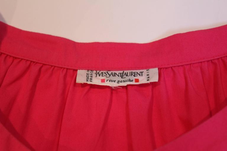 Yves Saint Laurent Rive Gauche Pink Dress 8