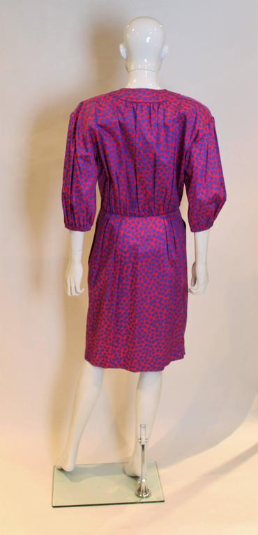 Yves Saint Laurent Rive Gauche Hear Print Dress 5