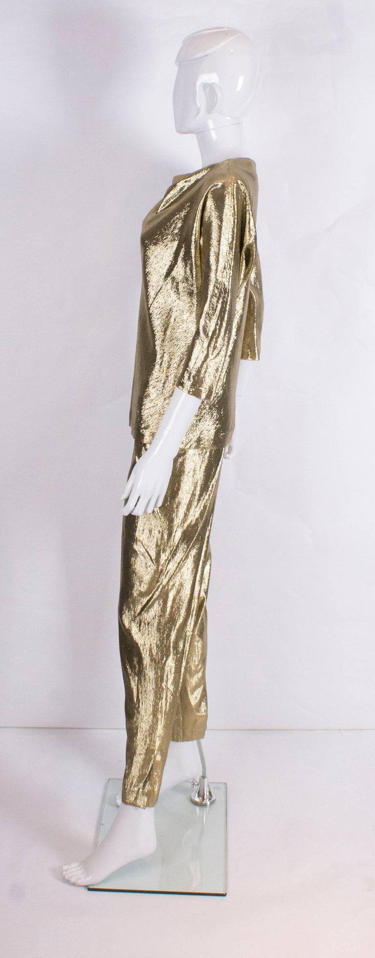 Gold Silk Pant Suit By Rich Bitch At 1stdibs