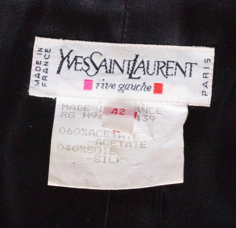 Yves Saint Laurent Rive Gauche Red Vintage Jacket For Sale 3