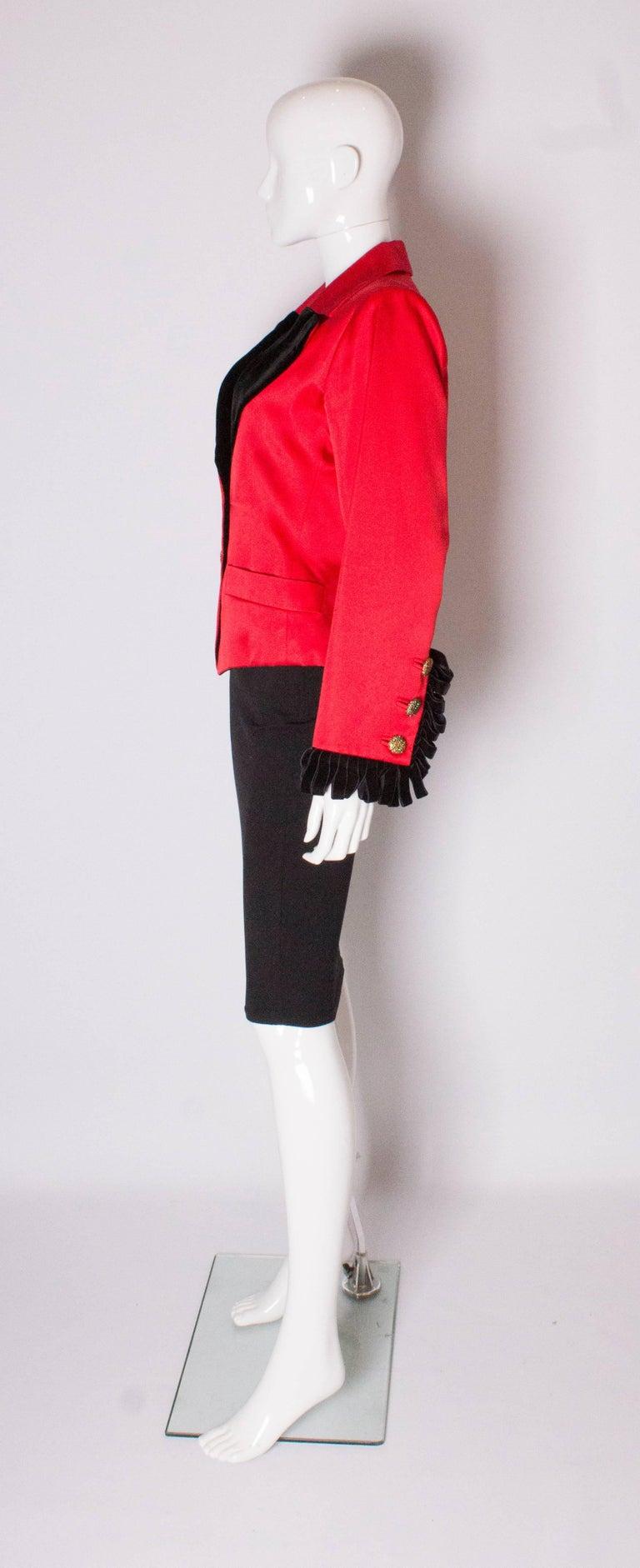 Women's Yves Saint Laurent Rive Gauche Red Vintage Jacket For Sale