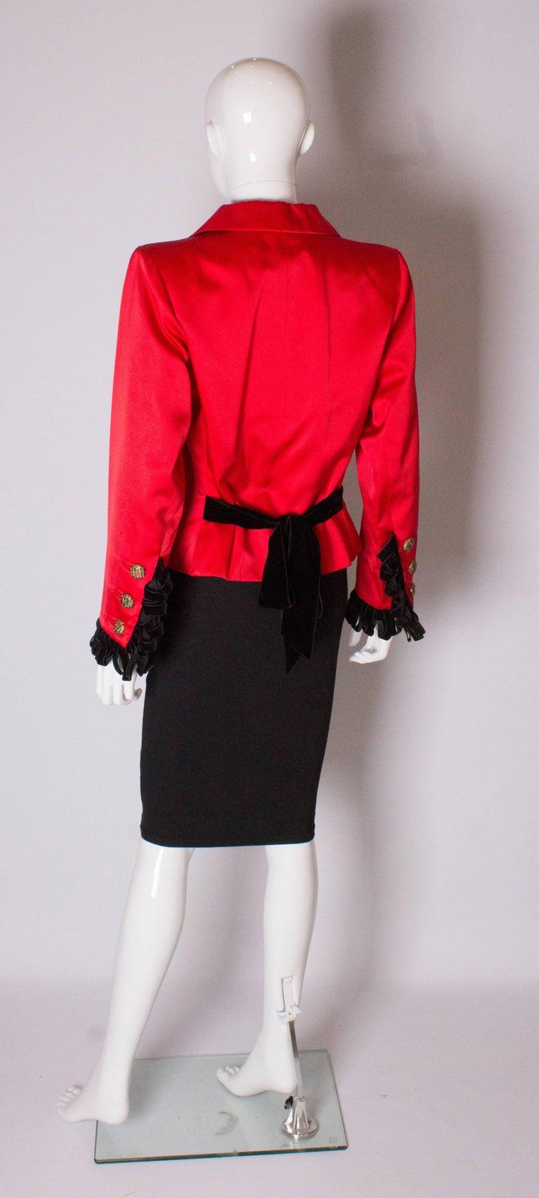 Yves Saint Laurent Rive Gauche Red Vintage Jacket For Sale 1