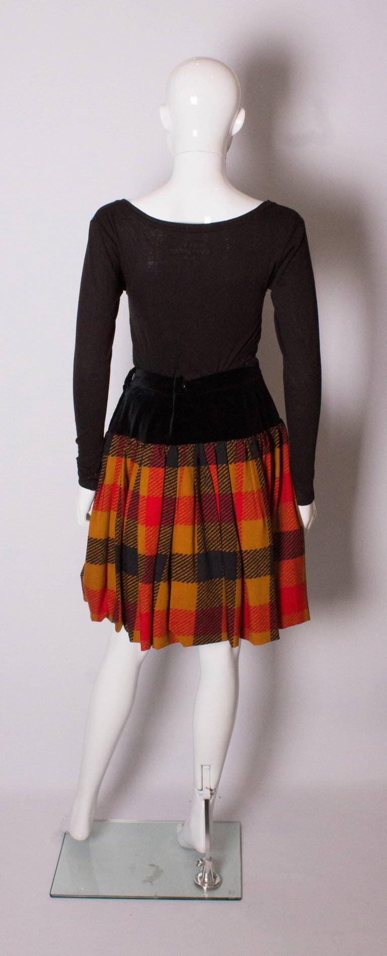 Women's Yves Saint  Laurent Velvet and Wool Skirt For Sale