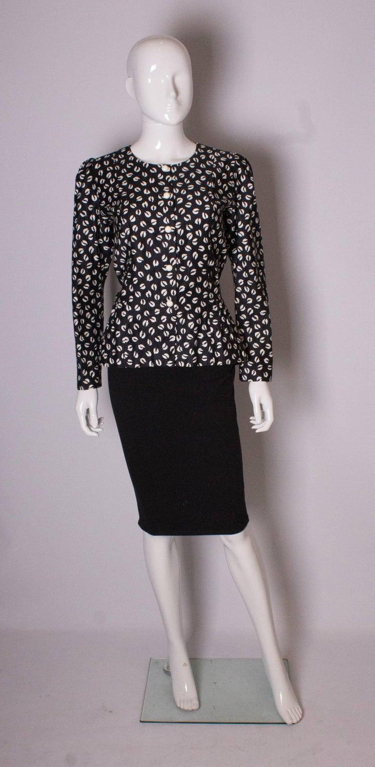 Black Vintage Yves Saint Laurent Top For Sale