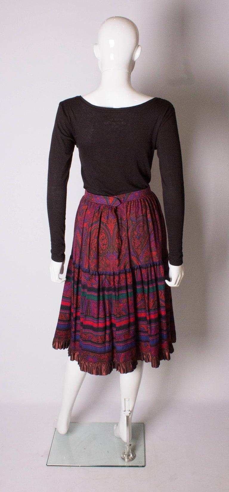 Yves saint Laurent Rive Gauche  Paisley Print  Skirt For Sale 2