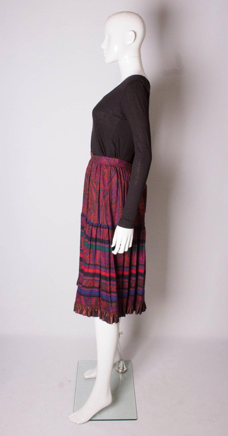 Women's Yves saint Laurent Rive Gauche  Paisley Print  Skirt For Sale