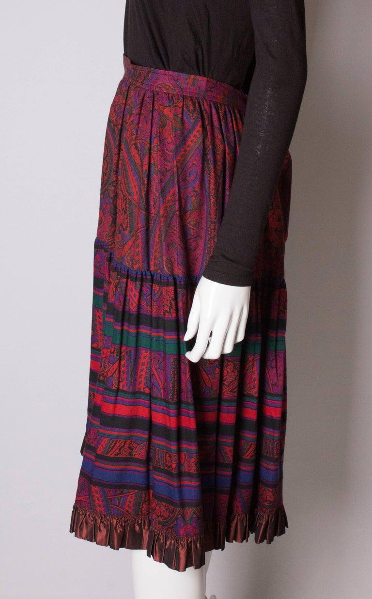 Yves saint Laurent Rive Gauche  Paisley Print  Skirt For Sale 1