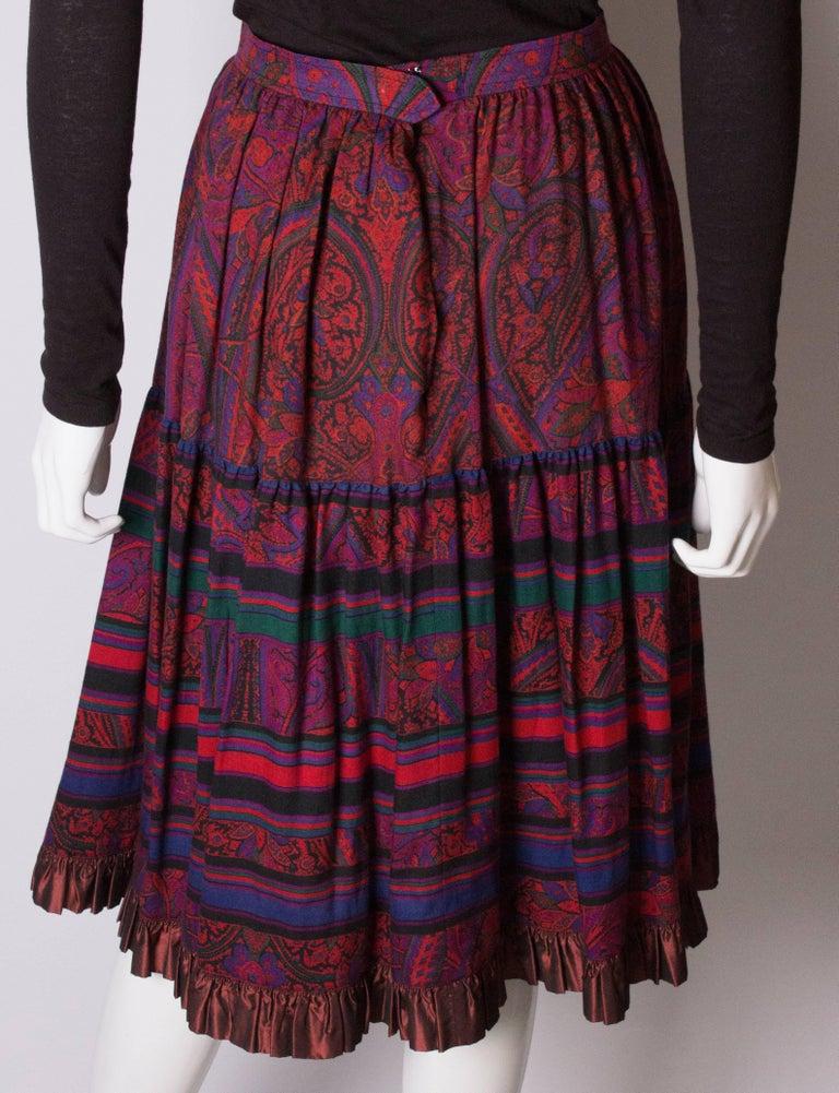 Yves saint Laurent Rive Gauche  Paisley Print  Skirt For Sale 3