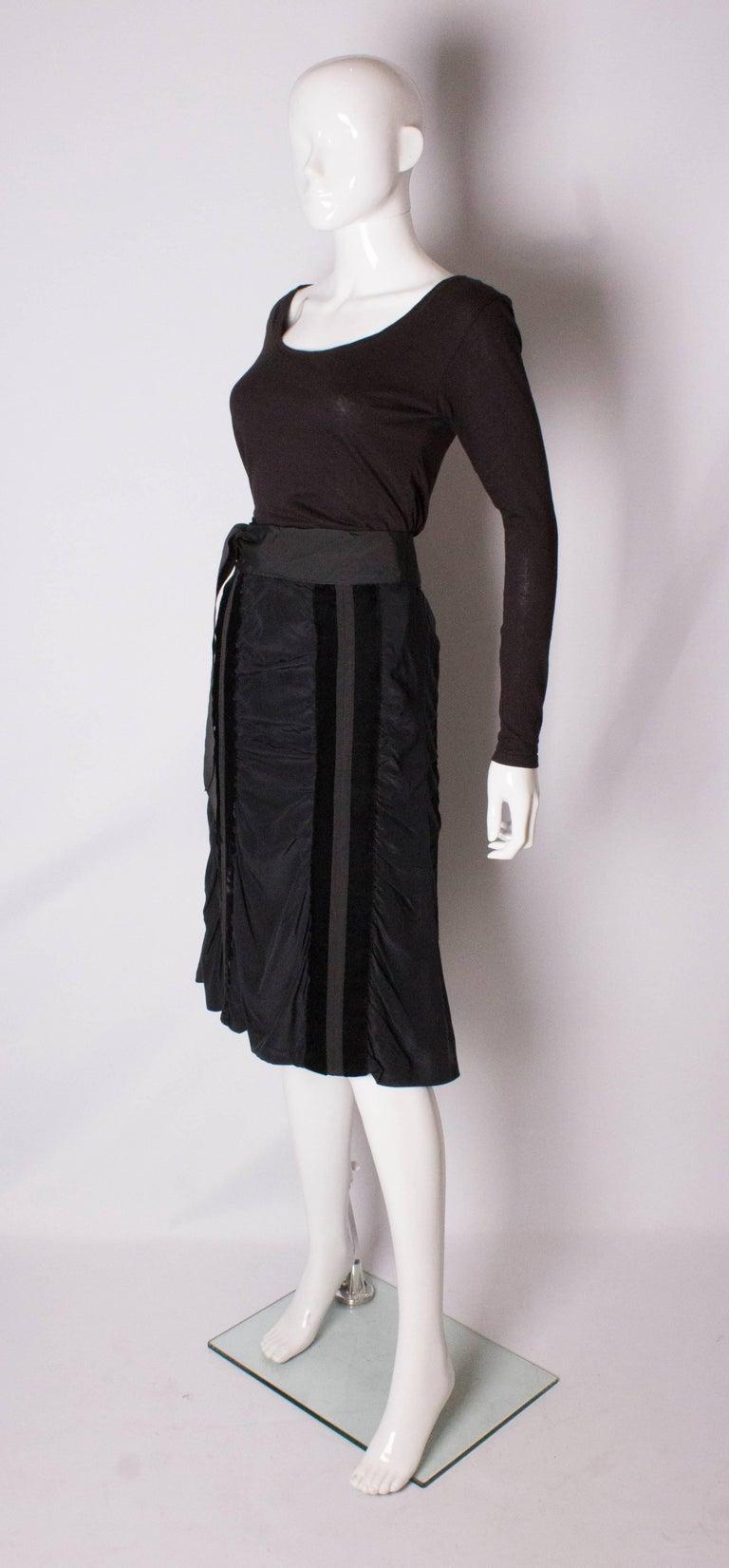 Black Yves Saint Laurent Rive Gauche Vintage Skirt For Sale