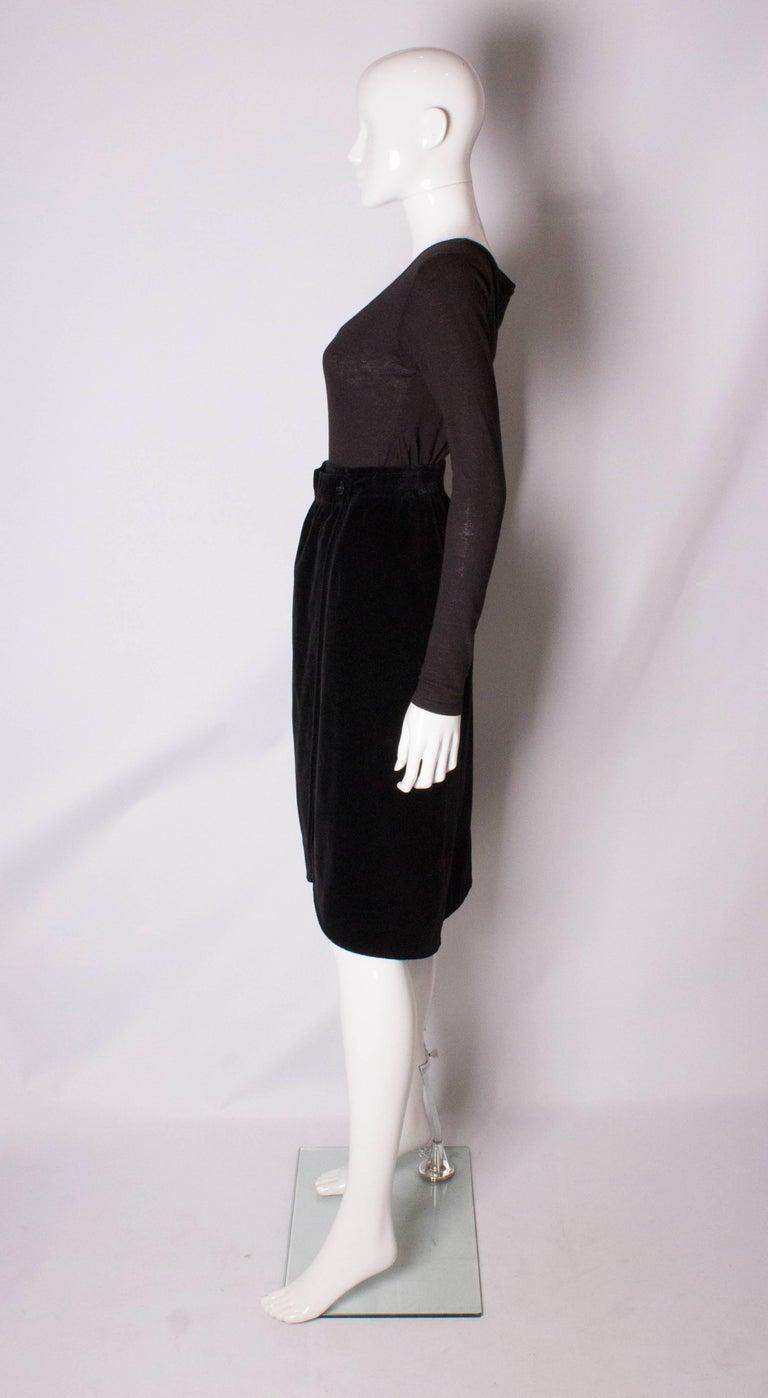 Women's Yves Saint Laurent Vintage Velvet Skirt For Sale