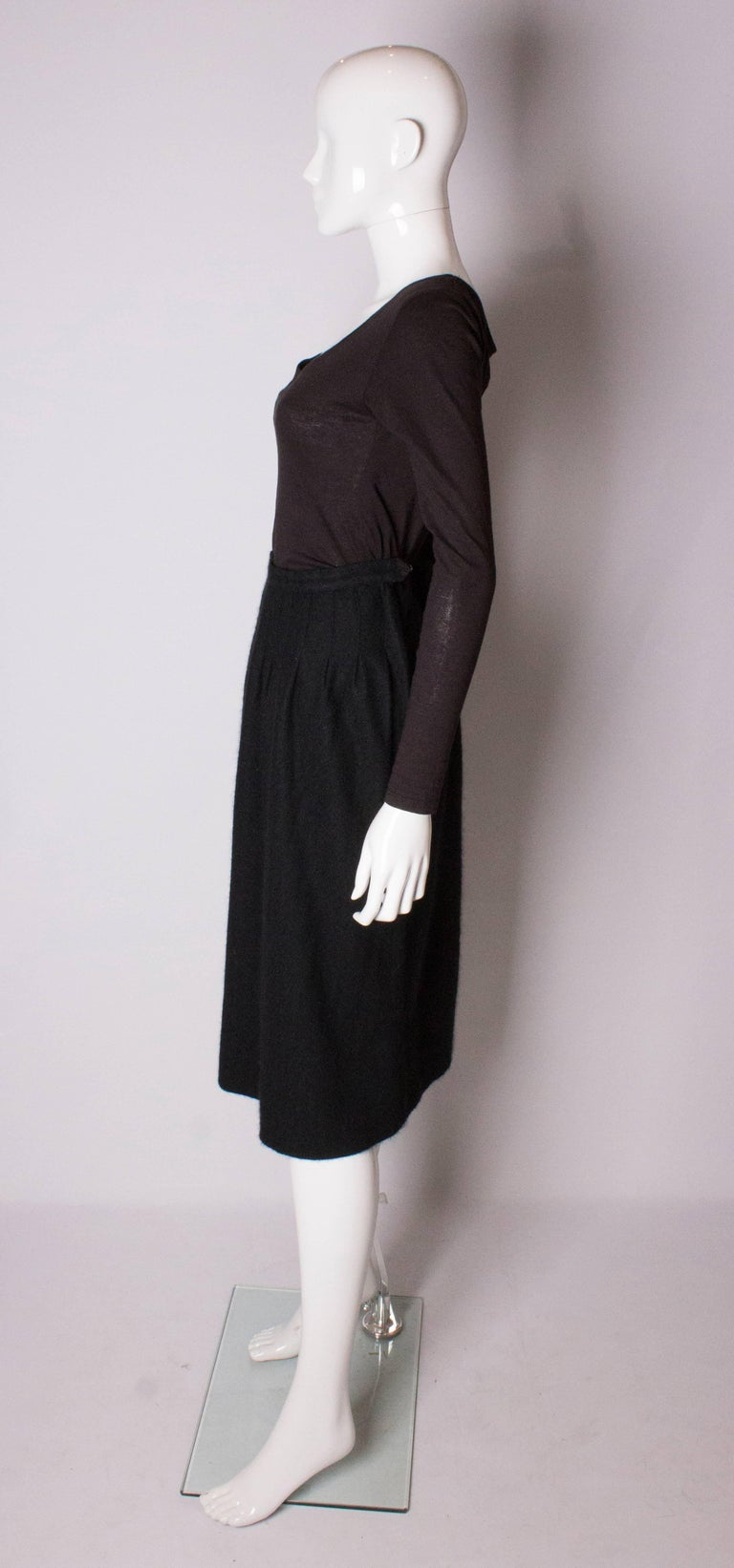 Yves Saint Laurent Vintage Rive Gauche Cashmere Skirt In Good Condition For Sale In London, GB