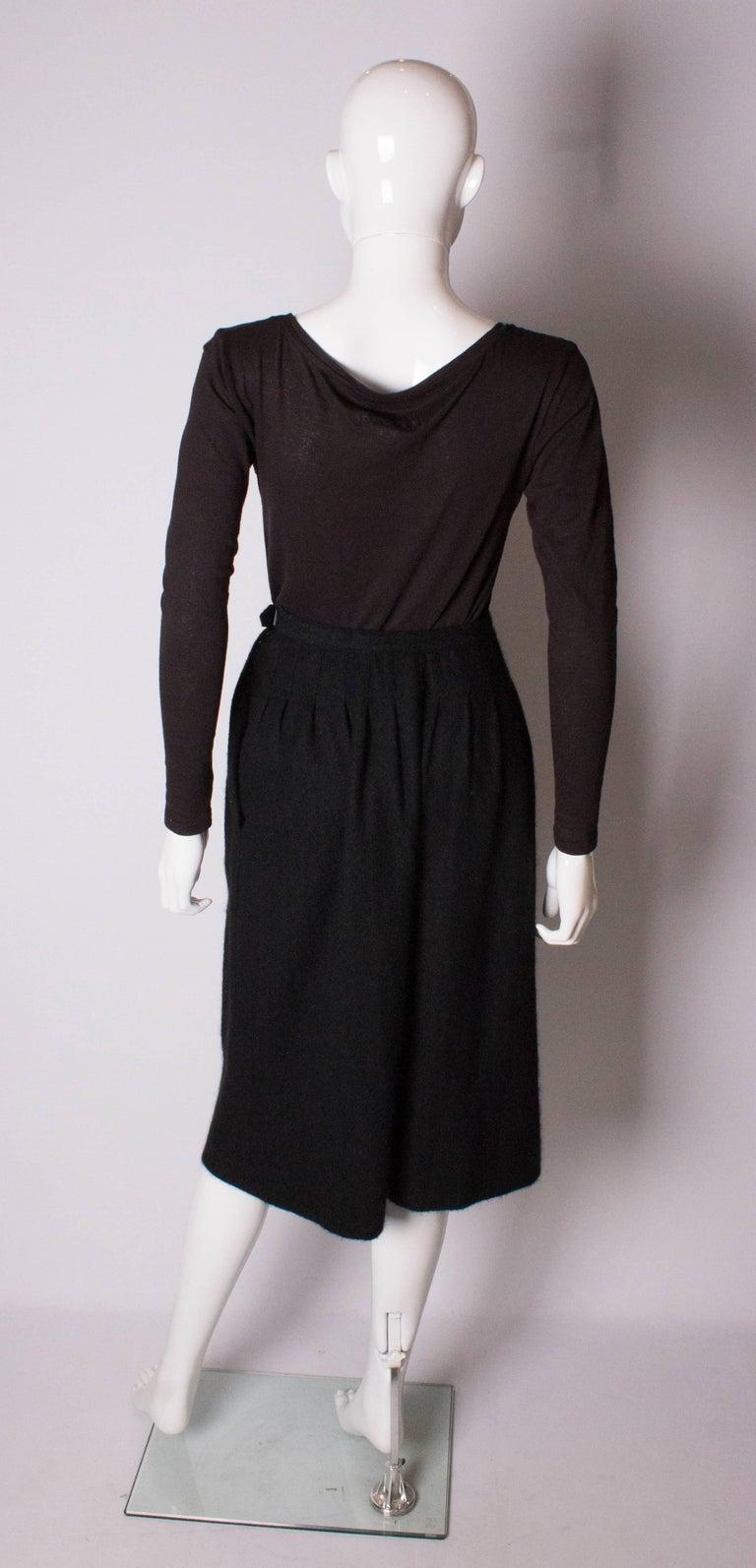 Yves Saint Laurent Vintage Rive Gauche Cashmere Skirt For Sale 1