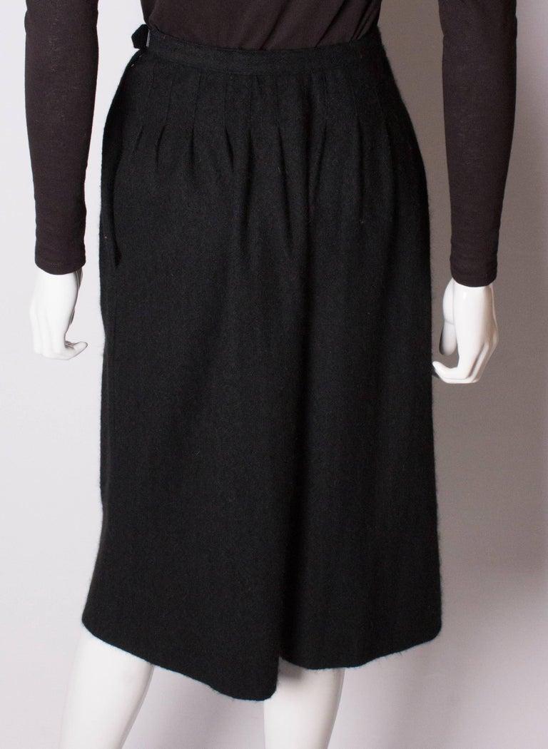 Yves Saint Laurent Vintage Rive Gauche Cashmere Skirt For Sale 2