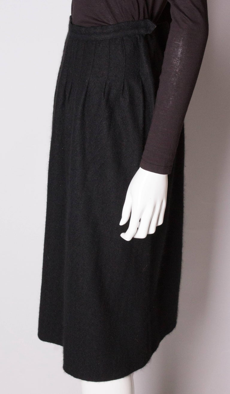 Women's Yves Saint Laurent Vintage Rive Gauche Cashmere Skirt For Sale