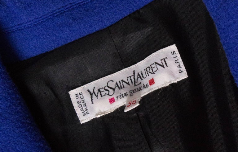Vintage Yves Saint  Laurent Wool Jacket For Sale 4