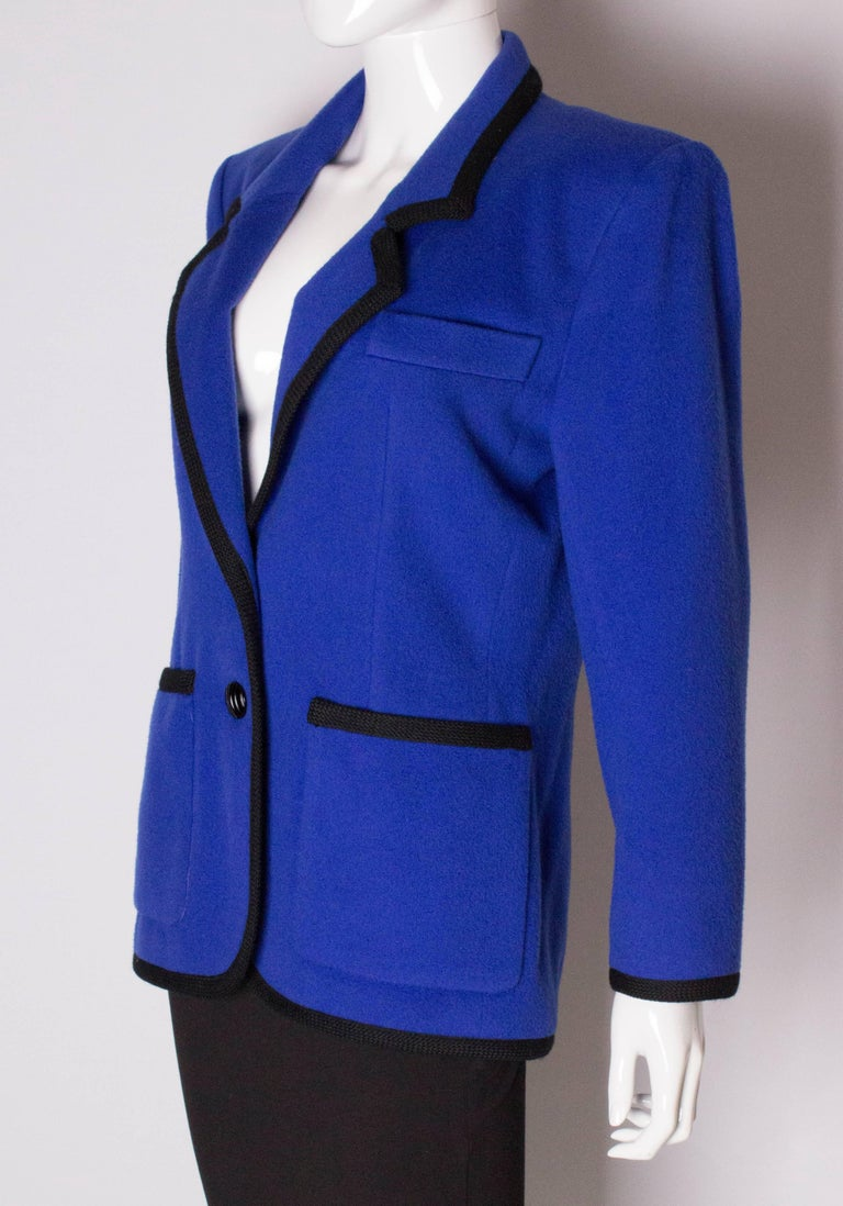 Vintage Yves Saint  Laurent Wool Jacket In Good Condition For Sale In London, GB
