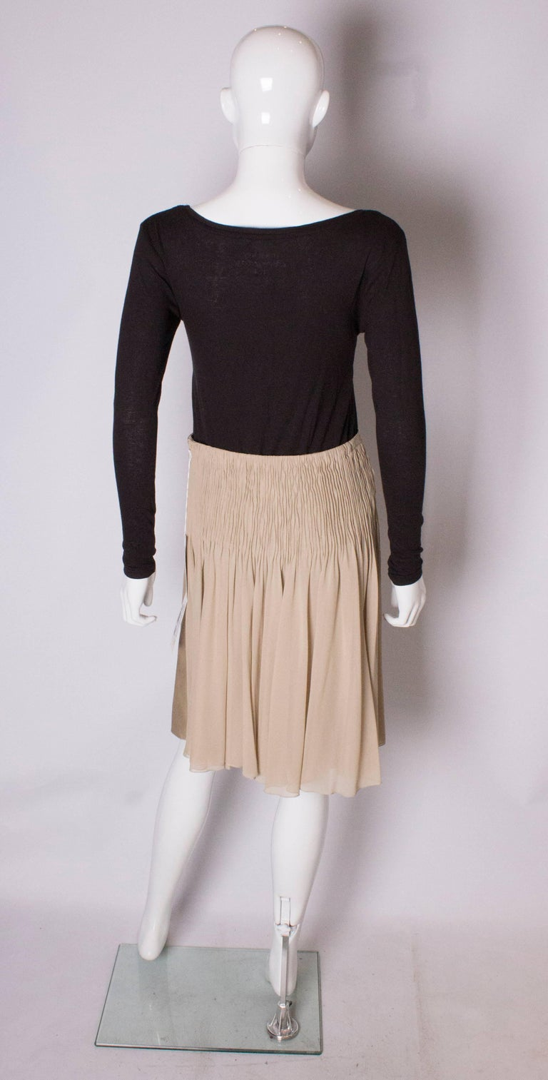 A Vintage cream Silk evening Skirt by Valentino For Sale 1
