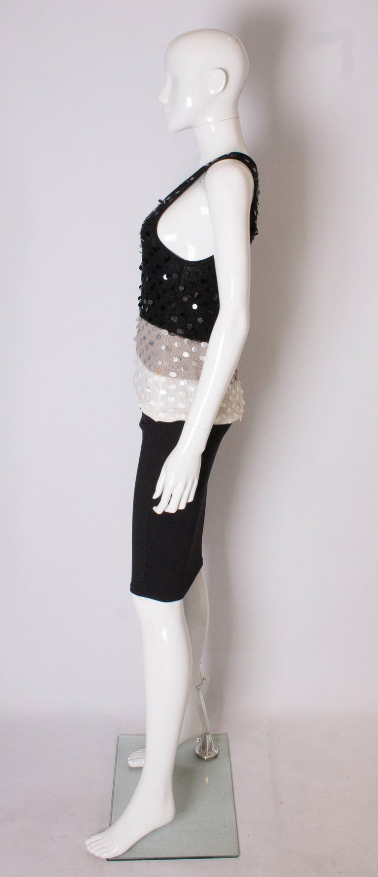 Women's or Men's A 1990s Vintage Sonia Rykiel knitted and Beaded Tank Top For Sale
