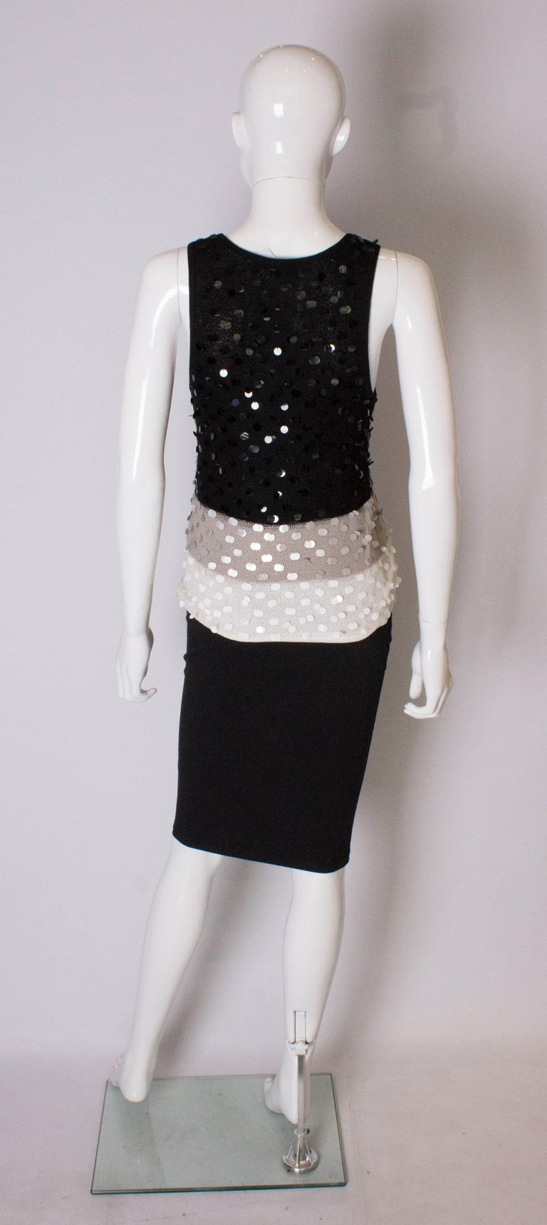 A 1990s Vintage Sonia Rykiel knitted and Beaded Tank Top For Sale 2