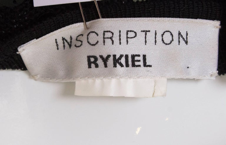 A 1990s Vintage Sonia Rykiel knitted and Beaded Tank Top For Sale 4