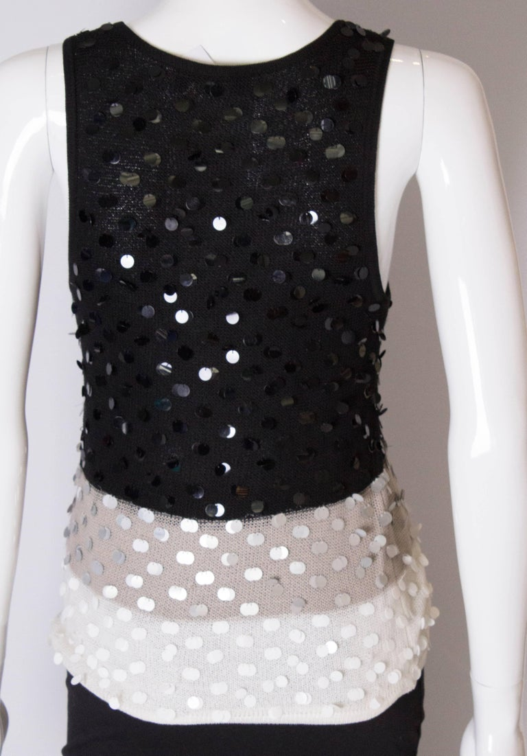 A 1990s Vintage Sonia Rykiel knitted and Beaded Tank Top For Sale 3