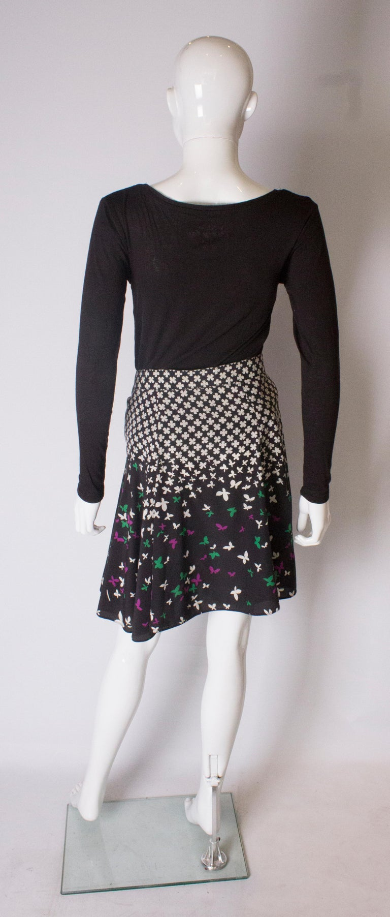 A vintage silk printed wrap over mini skirt by Yves Saint Laurent For Sale 2