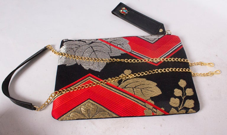 Embroidered Pouch Bag by Mame Huku In Good Condition For Sale In London, GB