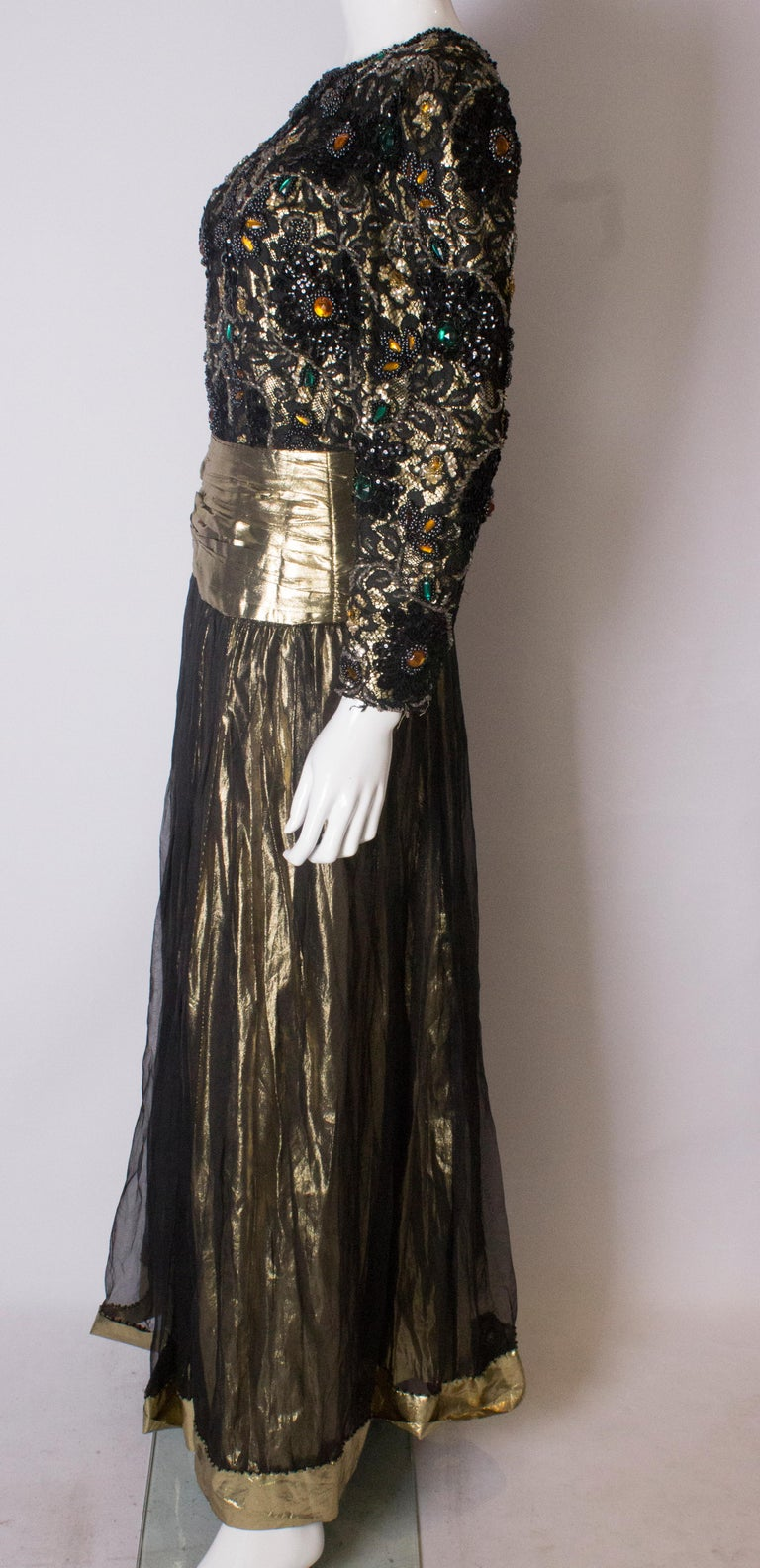 Beaded Evening Gown, 1980s For Sale 1