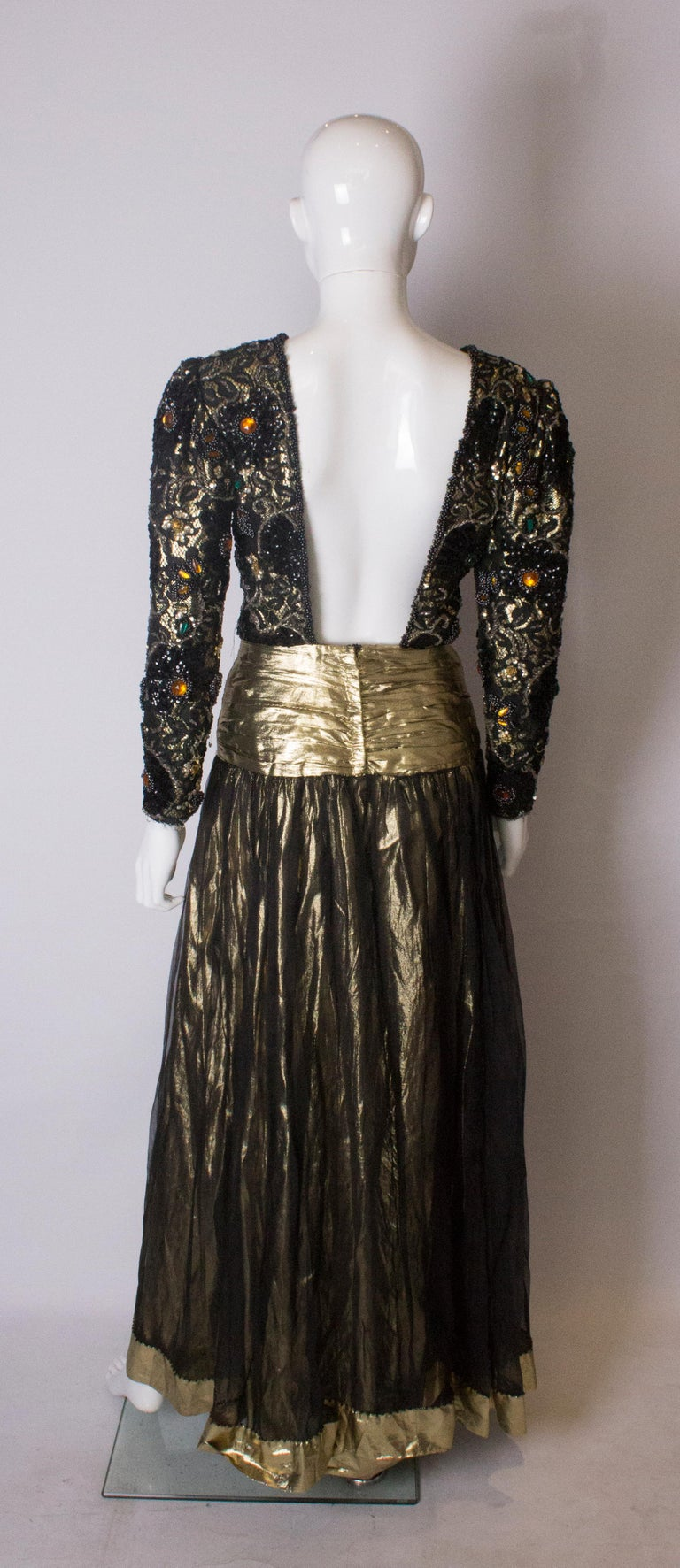 Beaded Evening Gown, 1980s For Sale 2
