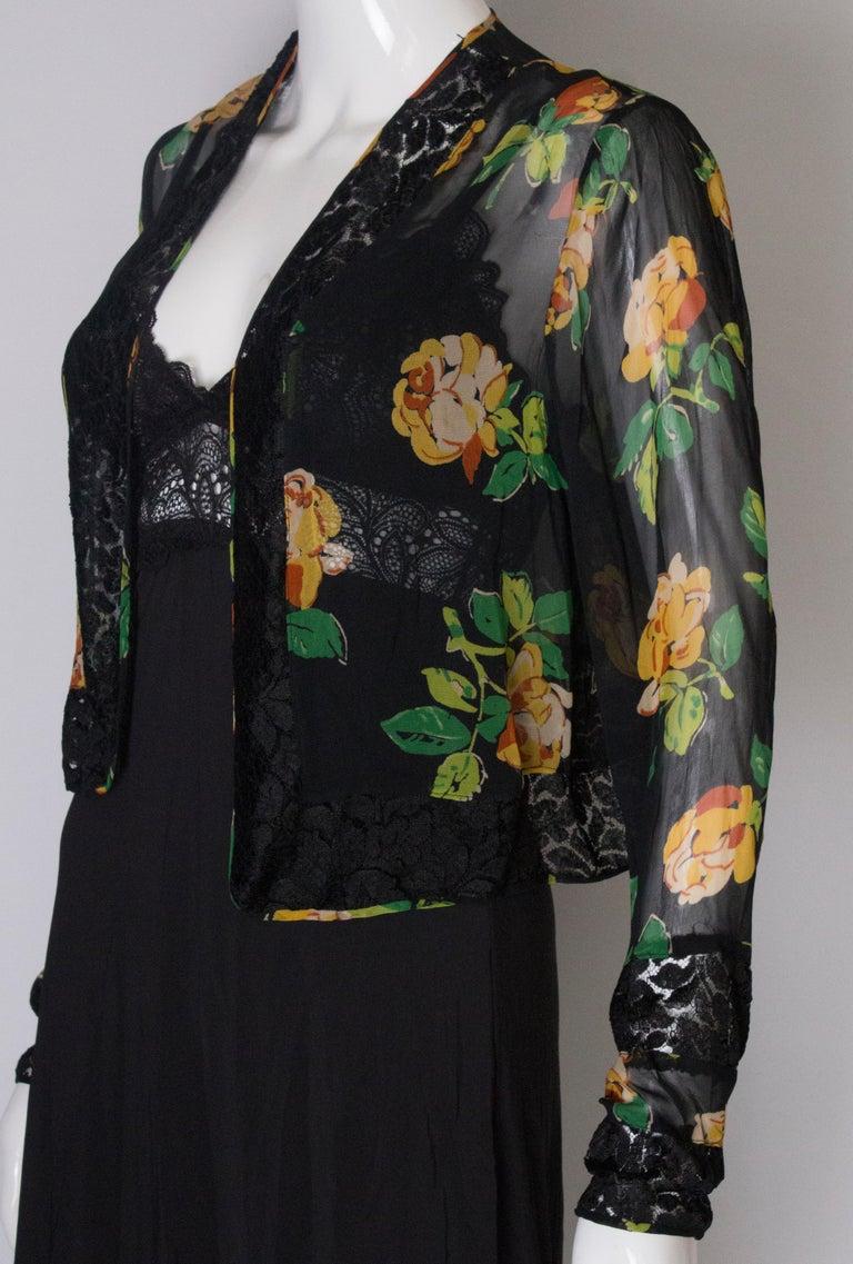 Women's Bolero Vintage with Lace Detail, 1920s  For Sale