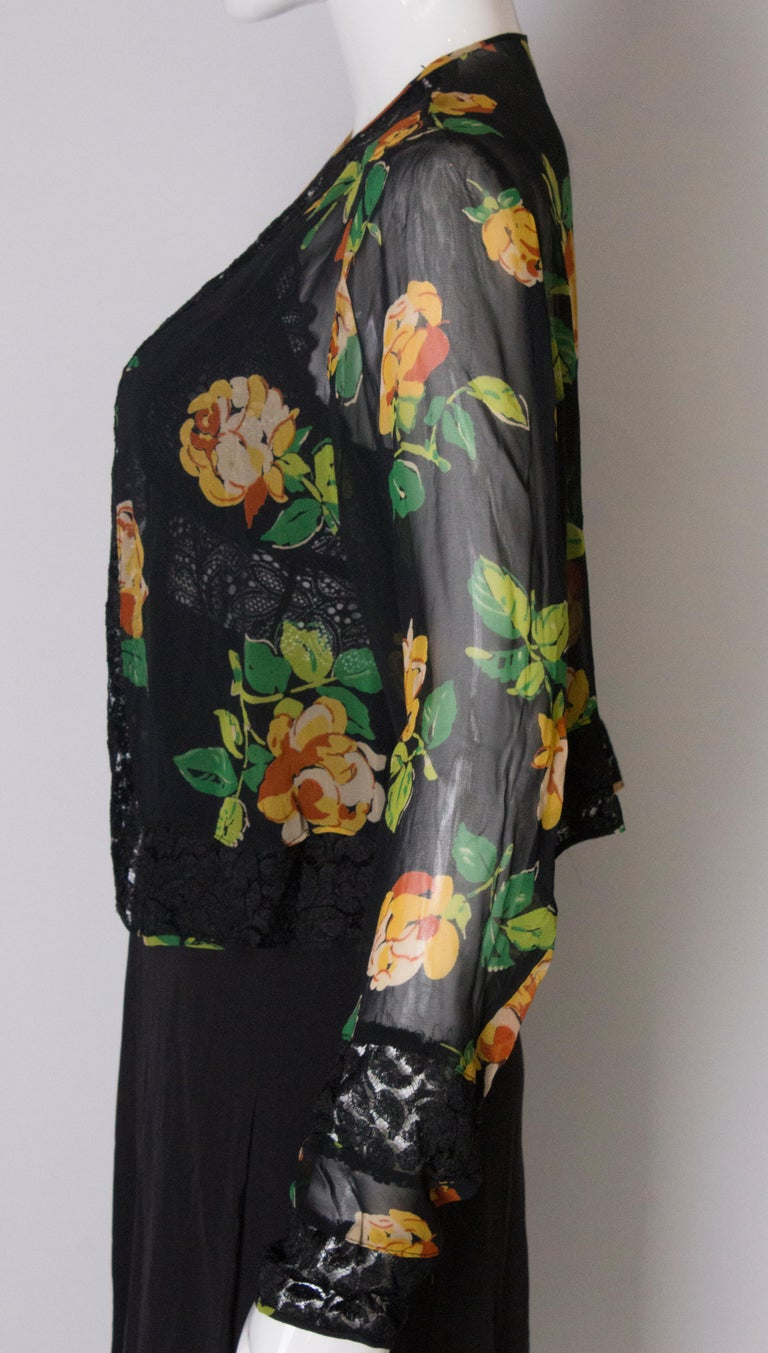 Bolero Vintage with Lace Detail, 1920s  For Sale 2