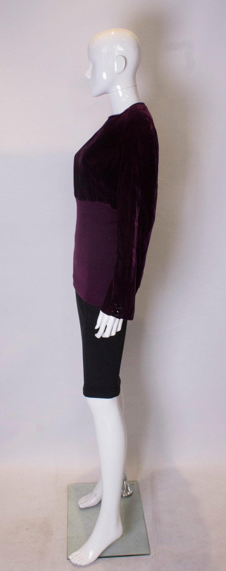 Women's or Men's Vintage Valentino Boutique Velvet Top For Sale