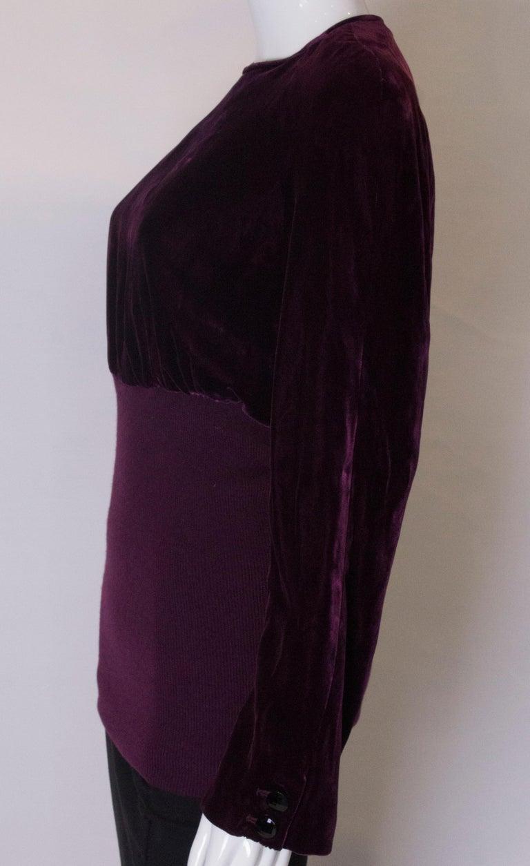 Vintage Valentino Boutique Velvet Top For Sale 1