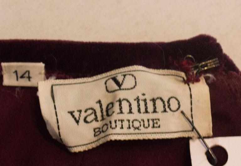 Vintage Valentino Boutique Velvet Top For Sale 4