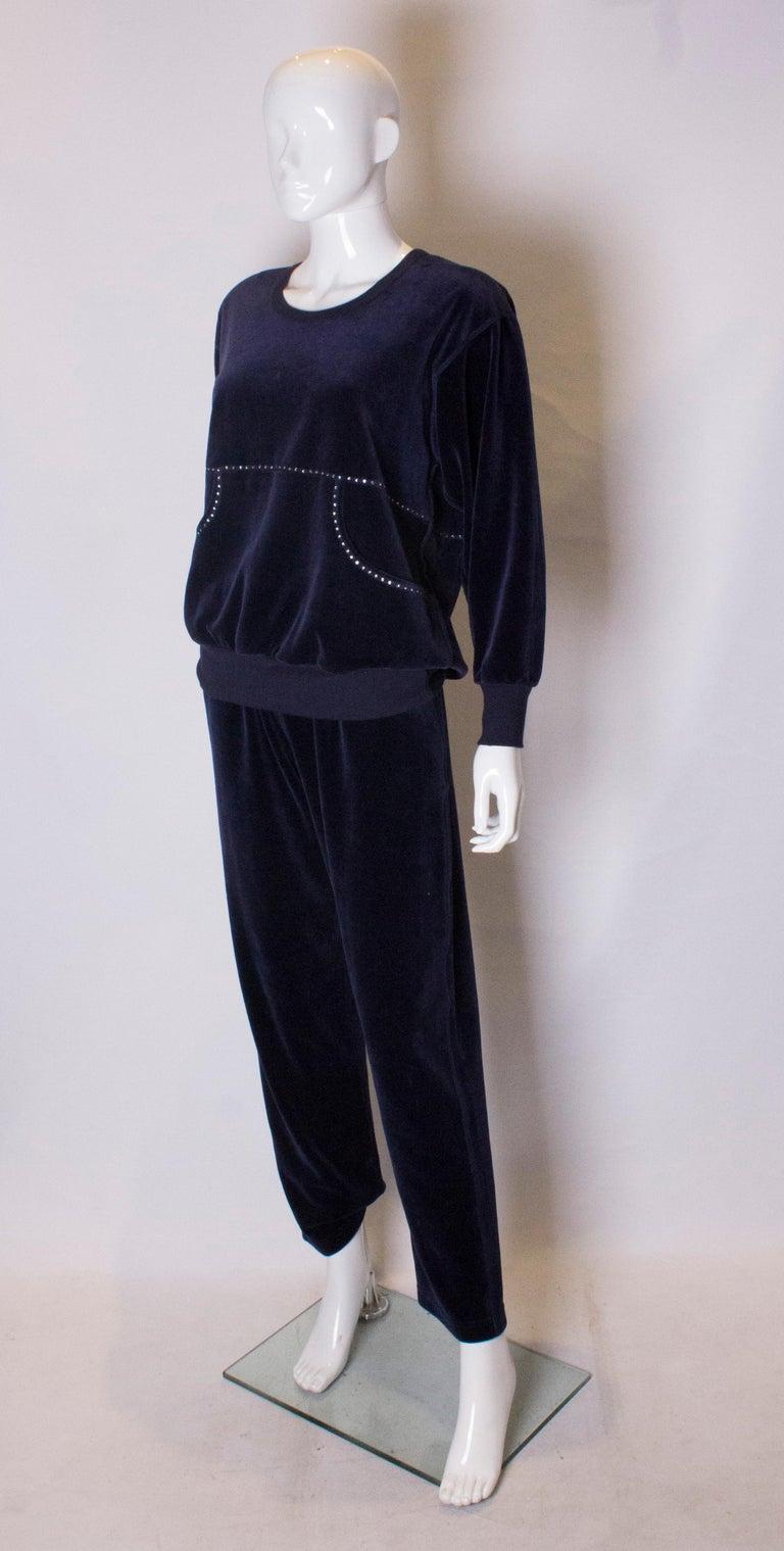 Black Vintage Sonia Rykiel Leisure Suit For Sale