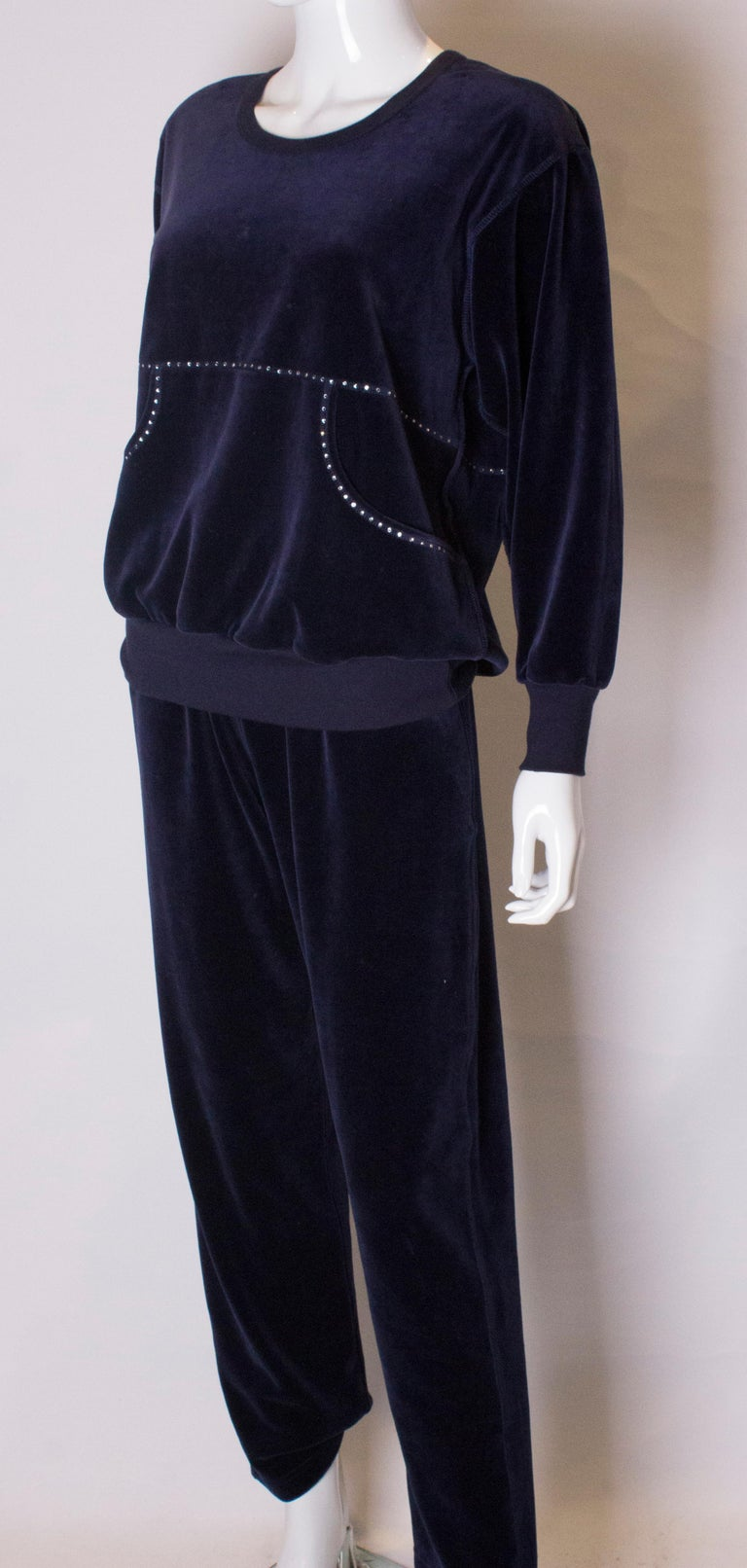 Vintage Sonia Rykiel Leisure Suit In Good Condition For Sale In London, GB