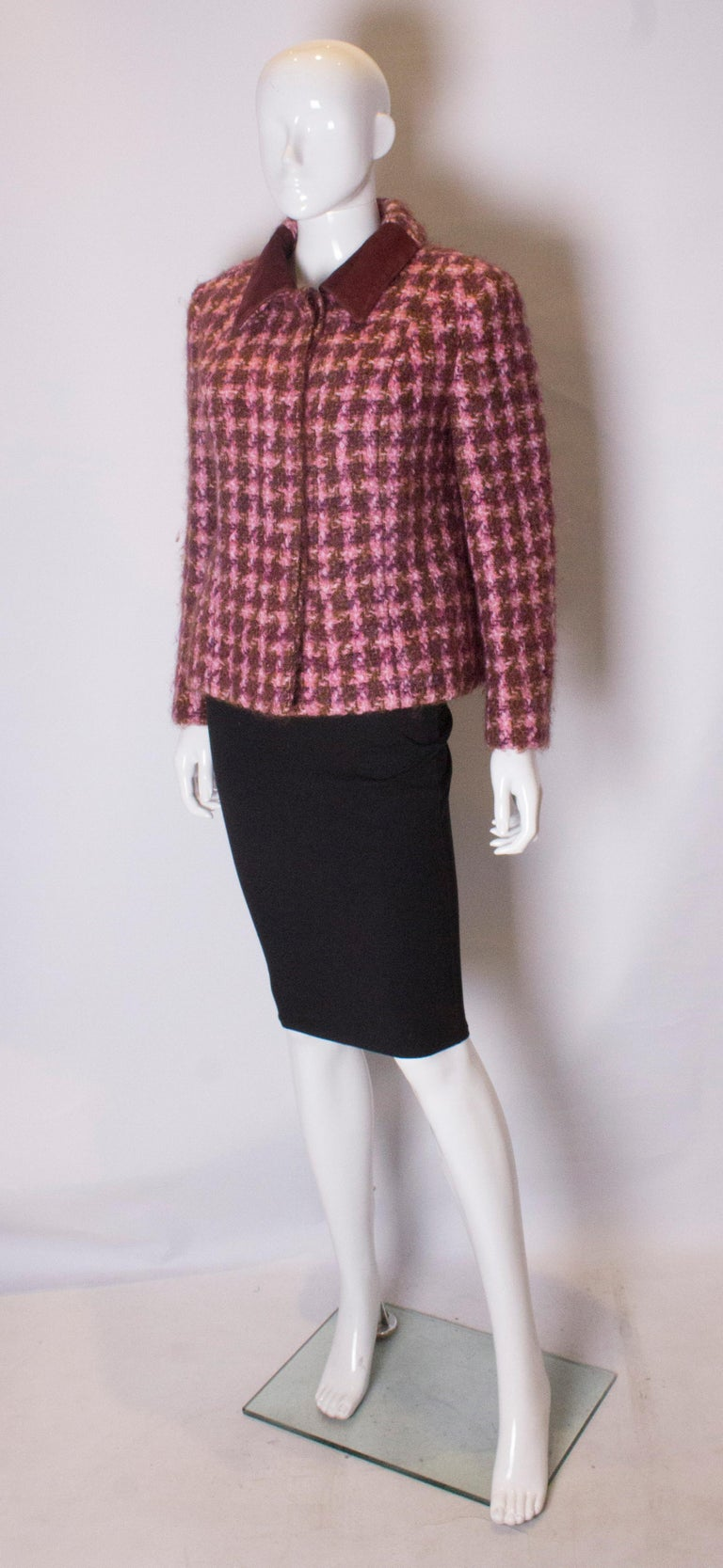Brown Vintage Jean Patou  Wool Jacket For Sale