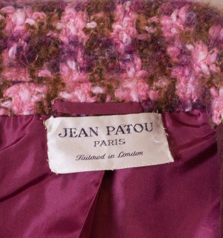 Vintage Jean Patou  Wool Jacket For Sale 4