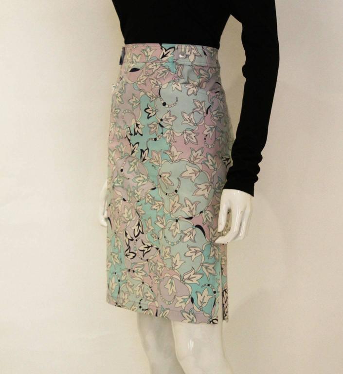 Pucci Cotton Skirt 2