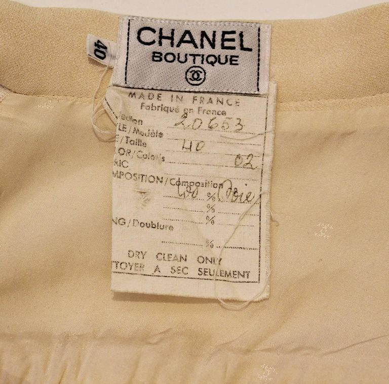 Chanel Silk Pleated Skirt 7
