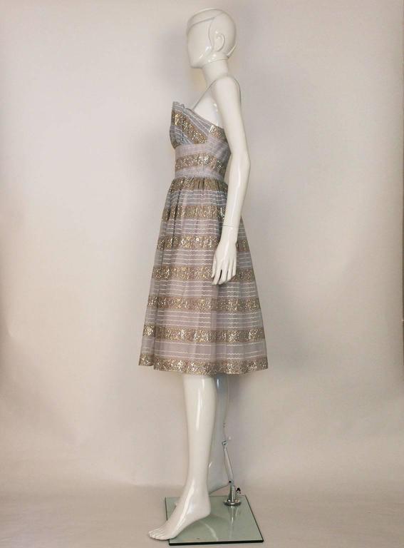 Victor Josselyn Vintage Evening Dress, 1950s For Sale at 1stdibs